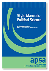 APSA Style Guide