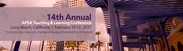 APSA Teaching and Learning Conference Banner