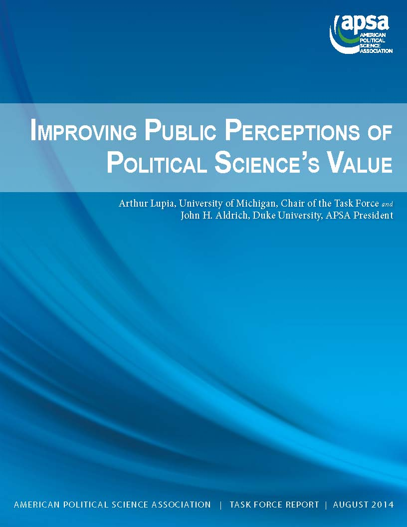 Improving Public Perceptions of Political Science's Value (2014)