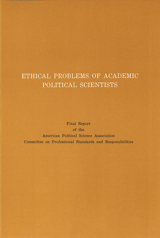 Ethical Problems of Academic Political Scientists