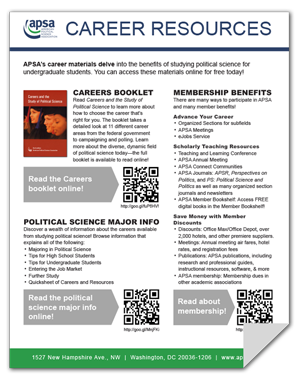 APSA Career Resources Flyer